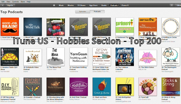 CultdomPodcastAug2014At14InTop200HobbiesUSversionOFiTunes