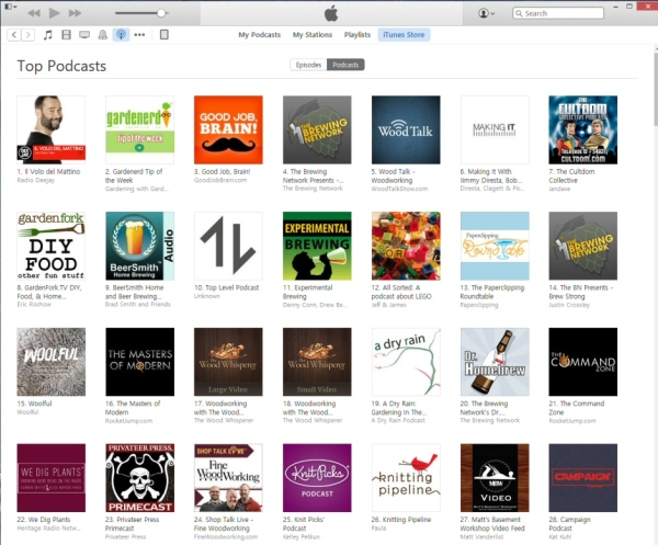 iTunes US 'Hobbies Section Cultdom No. 7