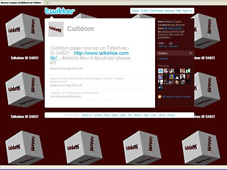 Cultdom twitter page