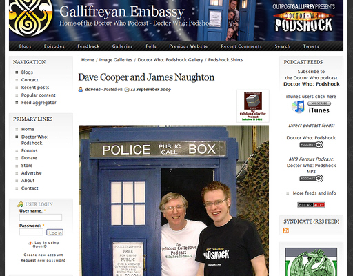 Picture taken at Whooverville makes it onto Gallifreyan Embassy Site